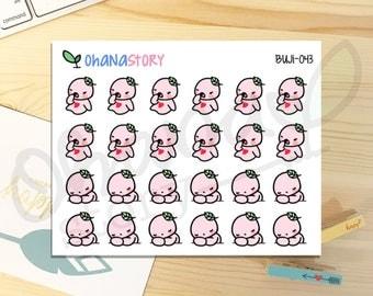 BUJI-043 - SLEEPY TIRED Planner Stickers