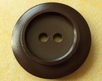 7 large buttons dark brown 28mm (5718) button brown jacket buttons jacket buttons