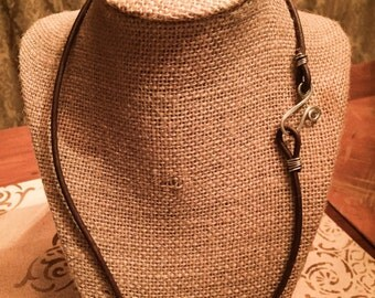 Leather Necklace made to order length & color