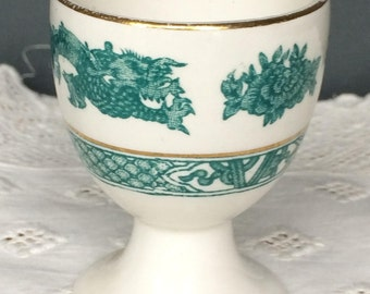 Vintage Booths Green Dragon China Egg Cup c.1920s