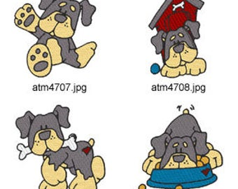 Rottweilers ( 6 Machine Embroidery Designs from ATW ) XYZ17C
