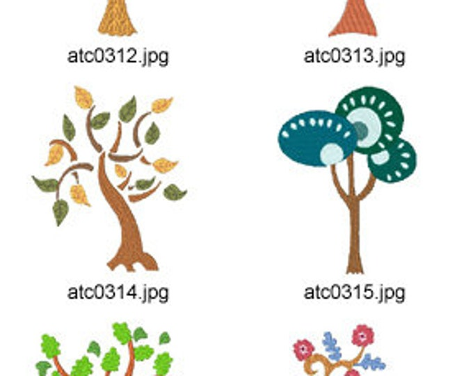 Simple-Trees ( 10 Machine Embroidery Designs from ATW ) XYZ17C