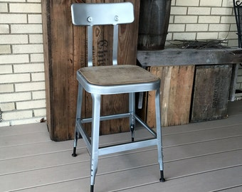 Vintage Industrial Factory Shop Adjustable Metal Steampunk Chair - LYON CO.