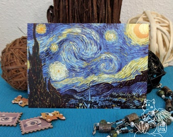 Postcard 'The Starry Night' by Vincent van Gogh - Postcrossing postage card - Classical art - Impressionism postcard
