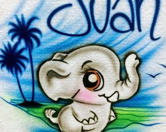 Airbrush Baby Elephant