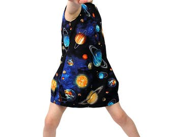 Space Balloon Dress Solar System