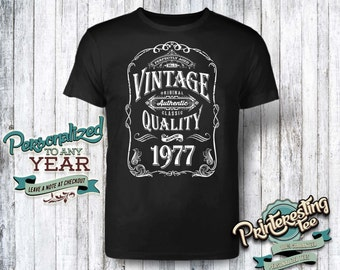 40th birthday, 40th birthday gifts for men, 40th birthday gift, 40th birthday tshirt, 1977, 40th birthday gift for women, vintage 1977