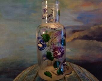 Nice vintage Provence little bottle/80s/Hand painting/13x6cm