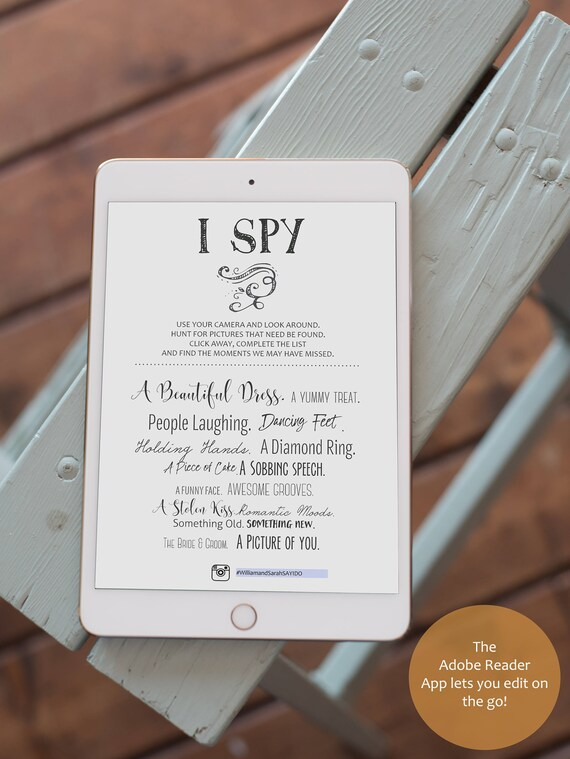 Fantastic Wedding I Spy Template Ideas - Examples Professional ...