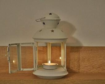 10%OFF Vintage metallic white lantern / wedding lantern / wedding lanterns / wedding lantern centerpiece