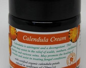 Calendula Cream - 50 ml - with certified organic calendula infused sunflower oil