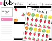 Watercolour Fruit Stickers