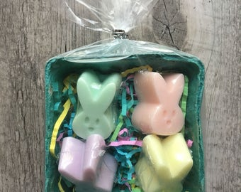 Easter Bunny SOAP set, easter basket filler, Kids soap, Kids gift, easter soap, easter gift, easter party, pastel soap, peeps soap