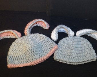 Handmade Crochet Rabbit style hats