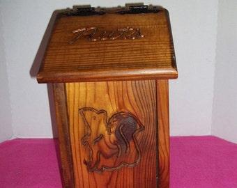 Wood Nut Box Soild Wood