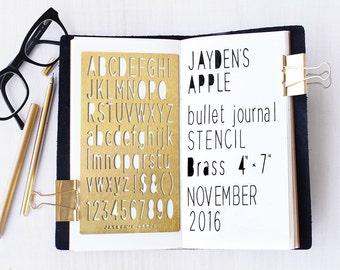 "Bullet Journal Stencil, Planner Stencil, Sans Serif Alphabet Stencil, Sans Serif Letter Stencil - 4x7"" (Sans Serif L)"