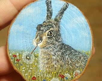 Miniature painting - Bunny - Easter