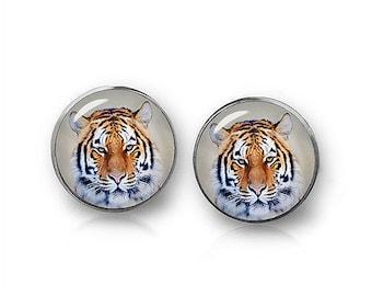 Tiger Stud Earrings Tiger Earrings Animal Jewelry Tiger Lovers