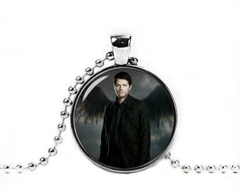 Castiel Pendant Castiel Necklace Supernatural Jewelry Photo Glass Pendant Supernatural Necklace