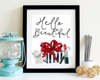 Beautiful Wall Decor beauty salon decor | etsy