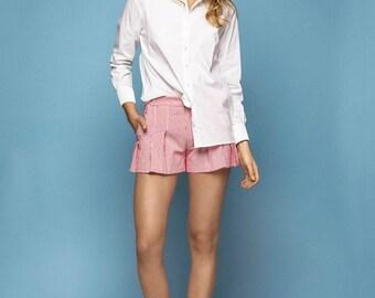 40% OFF | WHITE COTTON poplin shirt - womens blouse, white womens shirt, classic white womens shirt, office wear
