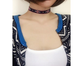Simple Tyrolean tape Choker, Simple Choker