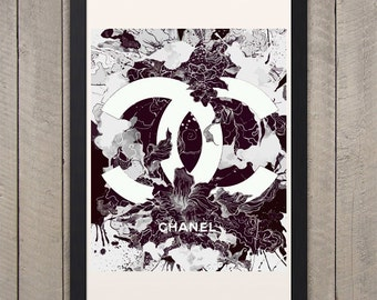 Poster poster modern chanel milano, original and feminine decoration for the House.