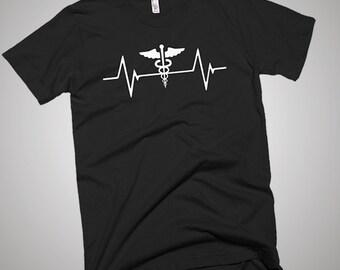 Medical Worker Nurse  Heartbeat T-Shirt, Gift Idea, Funny Shirt, Best Tee