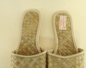 Size 8 Bamboo Flat Slippers by Liliu Gems Flat Slip-on Sandals
