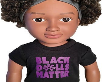 18″ doll T-shirt (purple)