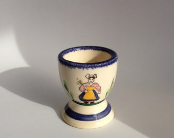 Vintage Quimper Eggcup - French Egg Cup - Traditional Eggcup - Quimper Collectible - Quimper Pottery