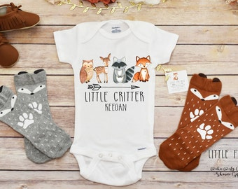 Personalized Baby Gift, Baby Boy Clothes, Woodland Baby Shower, Fox Shirt