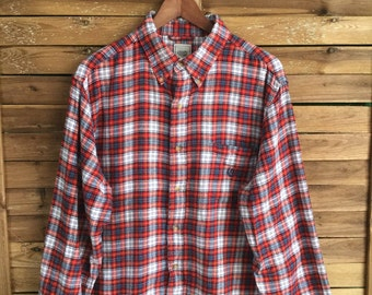 Flannel Shirt Camisa Franela Chaps Ralph Lauren Vintage MahaloVintageStore
