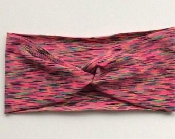Active Yoga Headband - Digital Pink