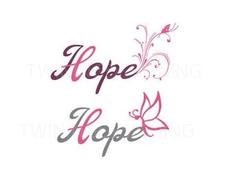 Breast cancer awarness hope butterfly digital file SVG PNG dxf
