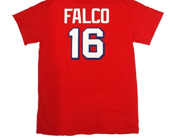 Shane Falco T-shirt # 16 Washington Sentinels Jersey Shirt As Worn In The Replacements Movie Football Quarterback Player Costume Adult Red