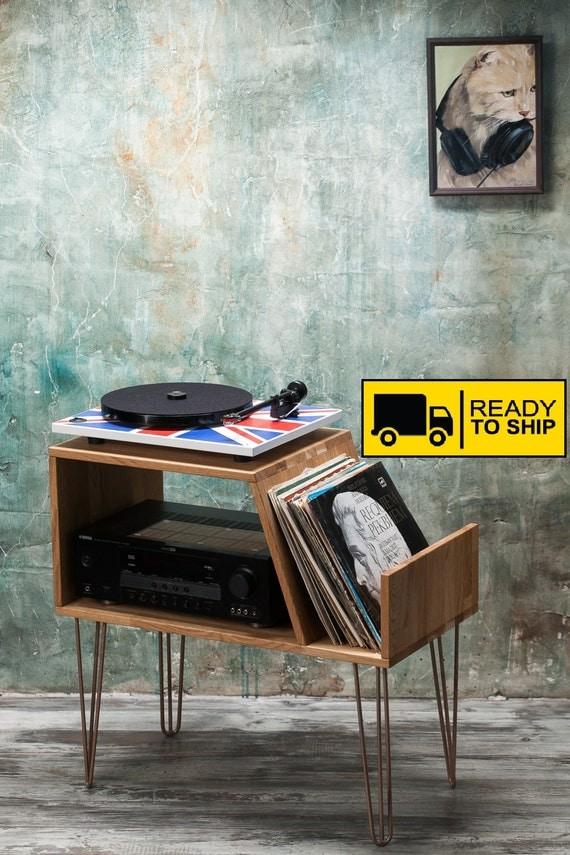 Vinyl Record Storage Record Player Cabinet Media Console