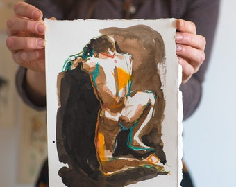 Decoration murale femme nue