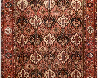 "Rare antique Bakhtiar rug. 9'9""x 12'1"""