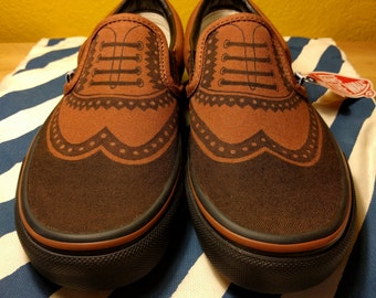 Vans with Oxford Design - Customizable Vans - Vans Oxford Shoes