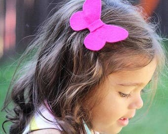 Butterfly Clip - Baby Girl Bow - Baby Bow