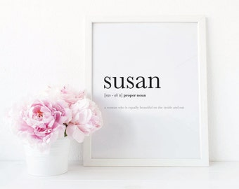 SALE - Digital Print, Personalised Name Definition, Dictionary Definition, Custom Definition, Custom Print, Literature Print