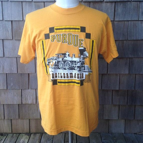 Vintage 80s PURDUE BOILERMAKERS T Shirt by Screen Stars - Medium - University