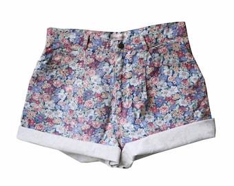 Floral High Waisted Vintage Shorts