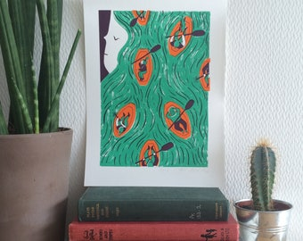 Framed 'Hair Today' Limited Edition Screen Print