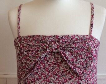 Vintage Floral Bow Dress