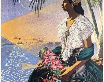 Vintage Veracruz Mexico Tourism Poster A3 Print