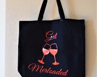 Everyday Tote Bag- Get Merloaded (Black)