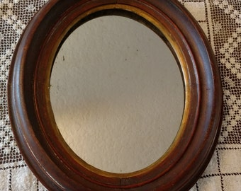 Vintage Wooden Framed Mirror