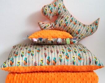 Baby Bedding Set, Blanket and 3 Pillows, dog cushion, cushion,